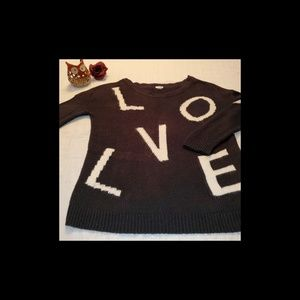 Garage Black/White Crew Neck Sweater - Size S